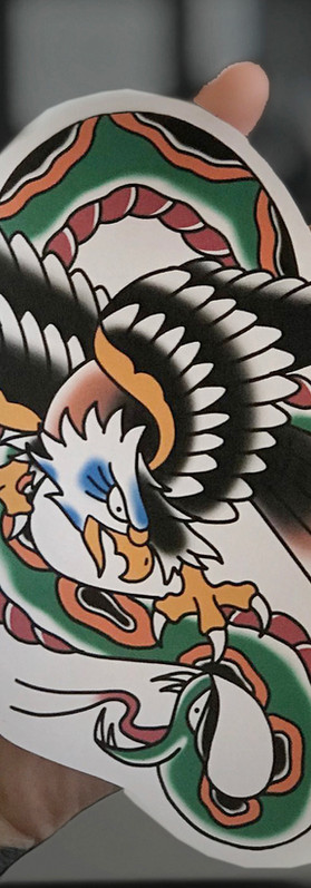 Scott eastlake American traditional tattoo design