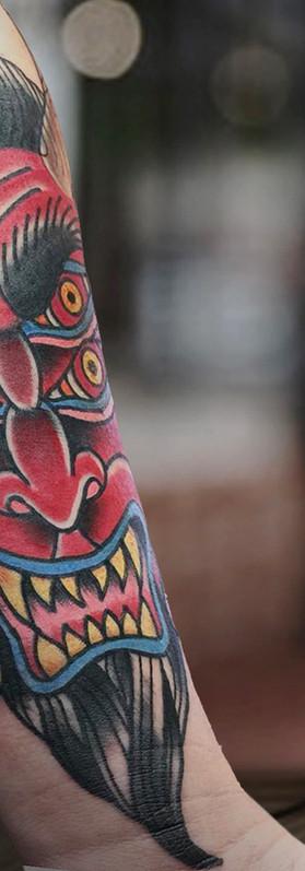 Cool Devil tattoo traditional