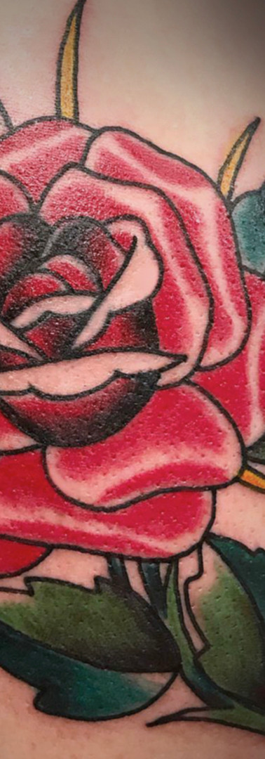 American rose tattoo