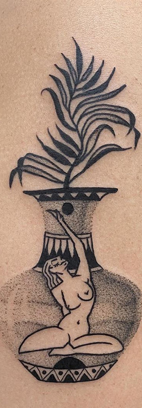 Phuckos minimalist vase tattoo Artist sydney