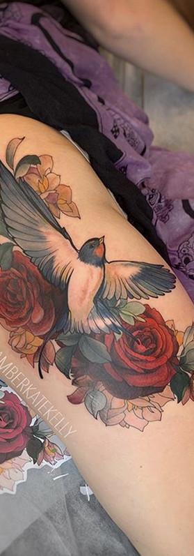 Swallow tattoo artist rose