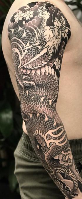 Best Japanese tattoo Dragon sleeve
