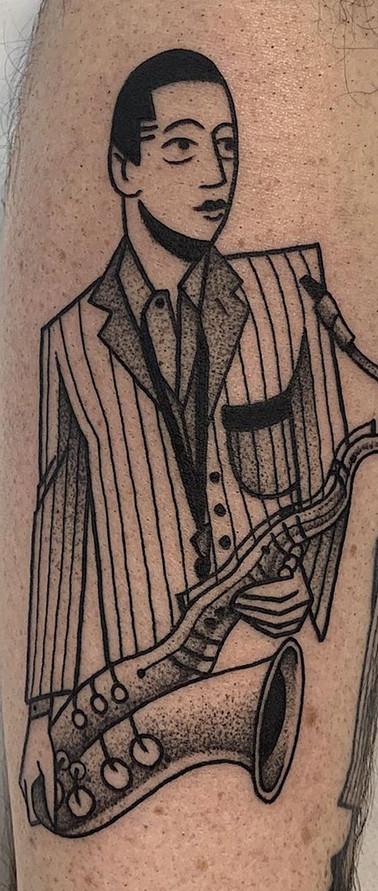 Phuckos minimalist jazz art deco tattoo artist