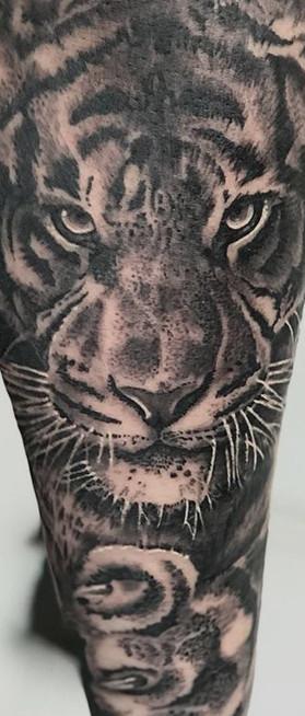 Realistic tiger tattoo Amazing
