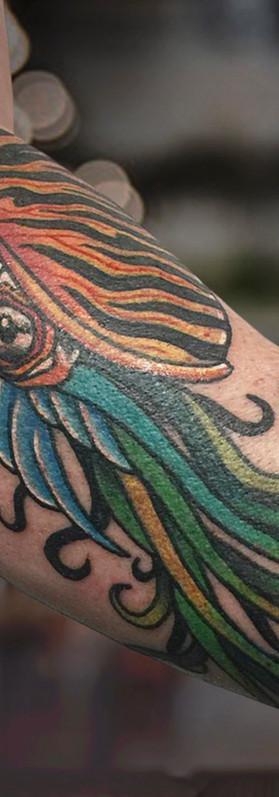 Nautilus traditional tattoo design