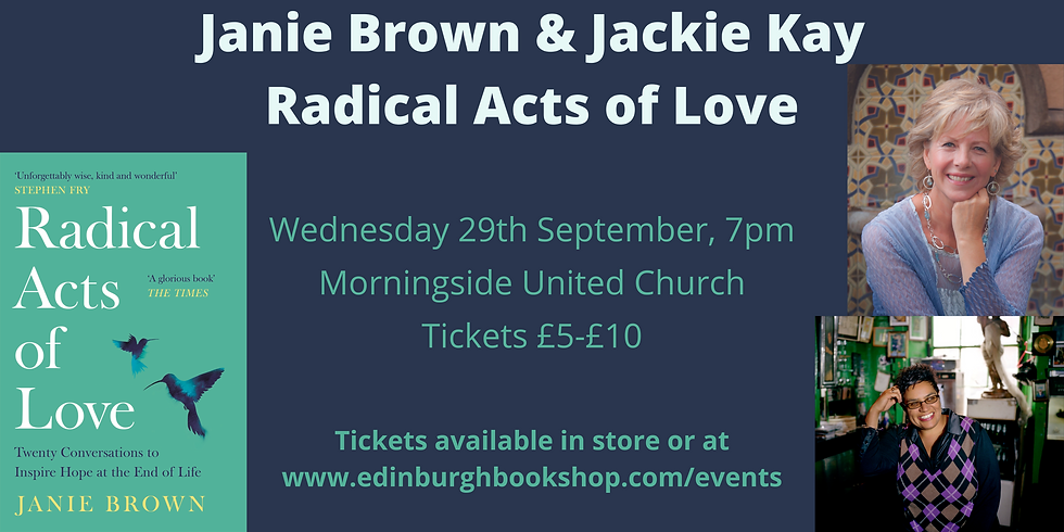 Janie Brown & Jackie Kay: Radical Acts of Love - Live Event