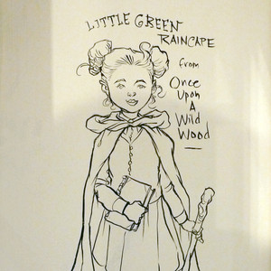 Chris Riddell drawing on the bookshop wall