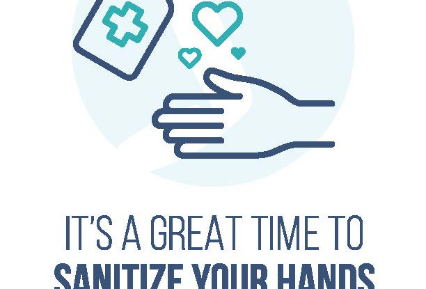 Sanitize Your Hands Prevention Posters