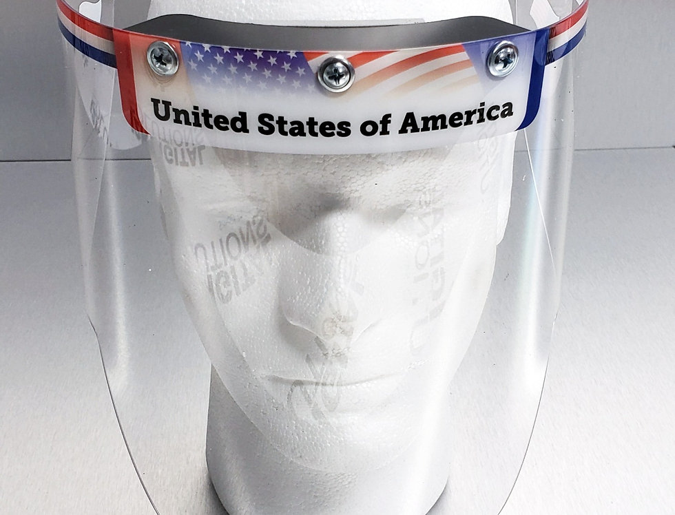 Custom Face Shield with American Flag