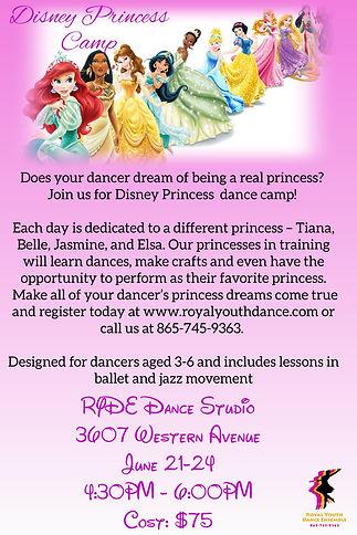 Disney Princess Dance camp June 21-24 20