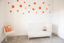 Simple nursery room decor