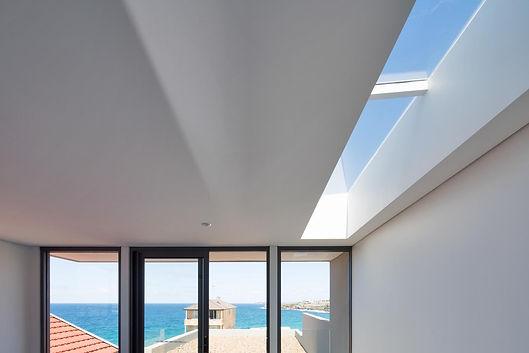 Skylight and sea views