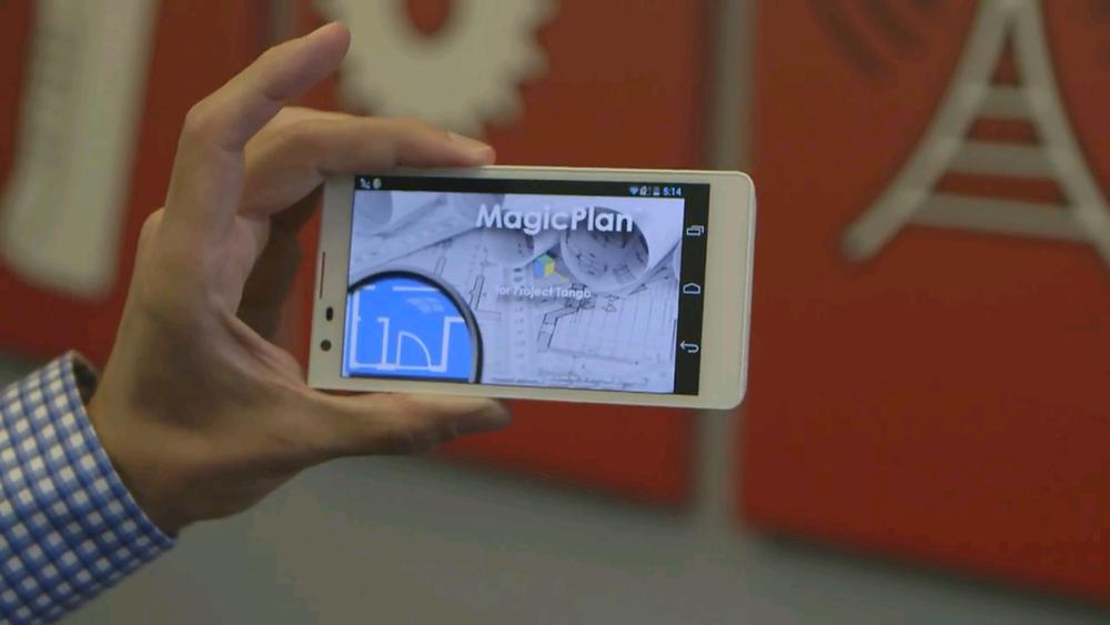 MagicPlan app on phone screen