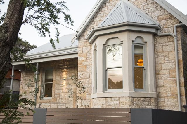 Restored sandstone heritage home