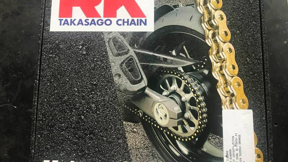 RK Coloured 'X' Ring Chain & Sprocket Kit