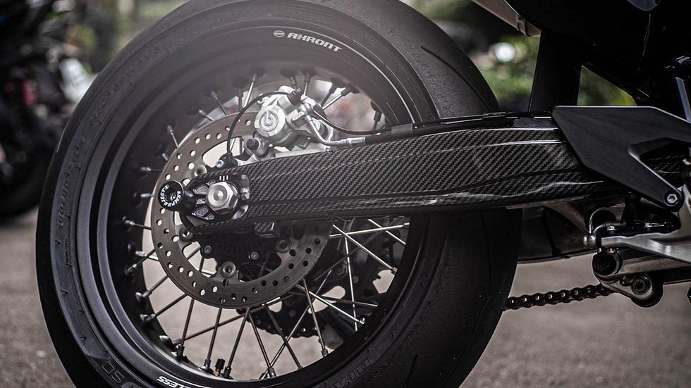 Carbon Swingarm Covers 690/Husqvarna 701 by Tekmo Racing)