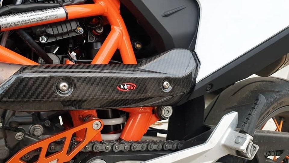 690 Carbon Heat Shield (KTM 690, 2019-on Tekmo Racing)