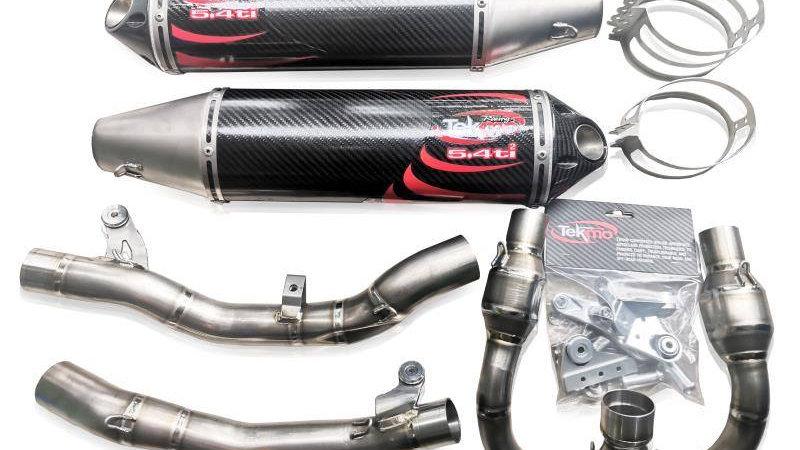 Dual Muffler Titanium Race Exhaust FS450 (KTM)