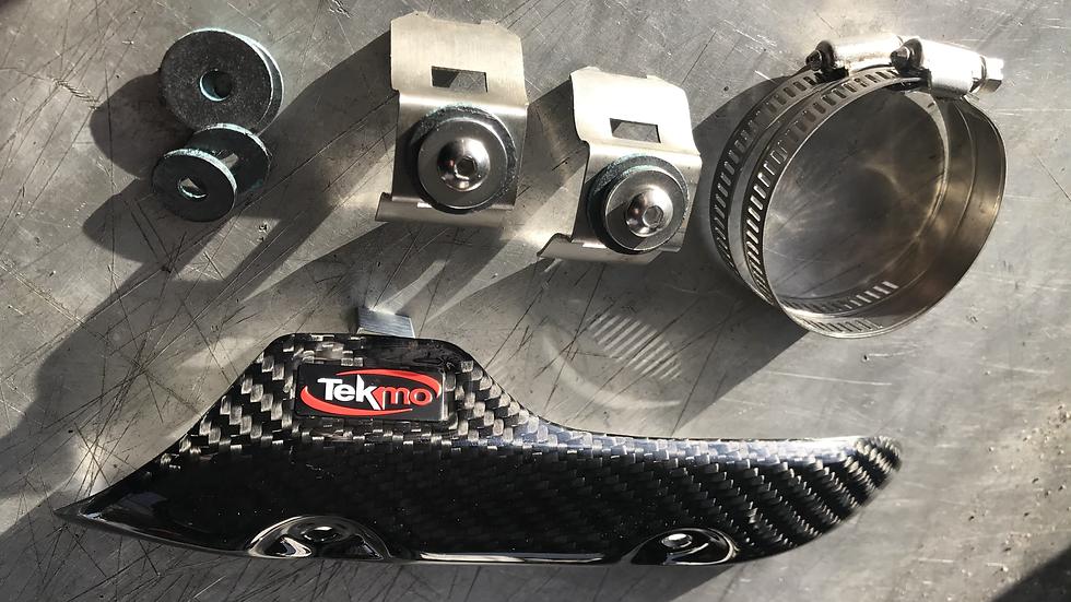Carbon Header Heat Shield for KTM/Husqvarna 4-t Off-Road Bikes by Tekmo Racing