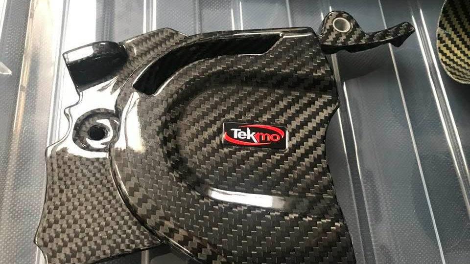 690/701 Carbon Front Sprocket Cover (KTM 690/Husqvarna 701, Tekmo Racing)