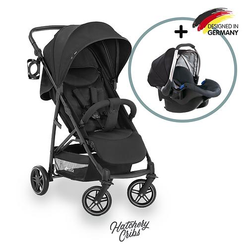 [Sale] Rapid 4R Plus Stroller (Black): Multi-Terrain,  One-Hand Fold