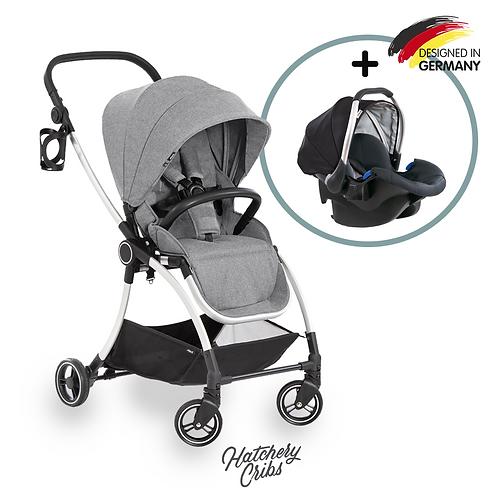 [Sale] Eagle 4S Colibri Stroller (Grey): Lightweight, Travel System, Reversible