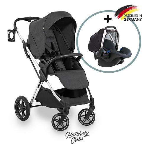 [Sale] Vision X Stroller (Black): All-Terrain, Travel System, Reversible