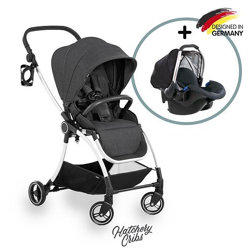 [Sale] Eagle 4S Colibri Stroller (Black): Lightweight, Travel System, Reversible