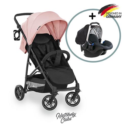 [Sale] Rapid 4R Plus Stroller (Pink): Multi-Terrain, One-Hand Fold