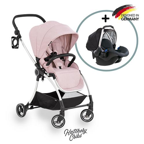 [Sale] Eagle 4S Colibri Stroller (Pink): Lightweight, Travel System, Reversible