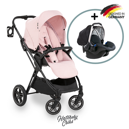 [Sale] Vision X Stroller (Pink): All-Terrain, Travel System, Reversible