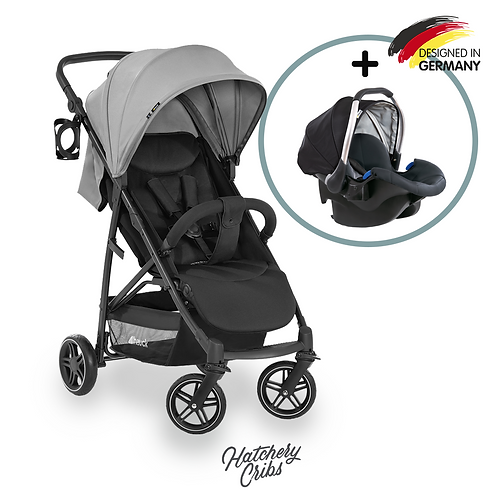 [Sale] Rapid 4R Plus Stroller (Grey): Multi-Terrain, One-Hand Fold