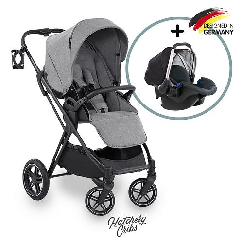 [Sale] Vision X Stroller (Grey): All-Terrain, Travel System, Reversible