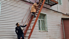 Тренировка по эвакуации работников института в условиях ликвидации пожара (условно)