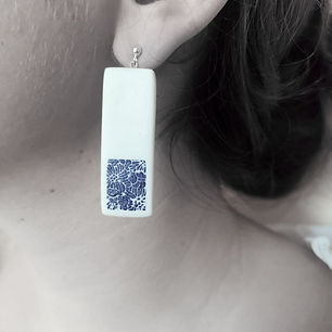bijoux fleur bleu lea zanotti ceramique