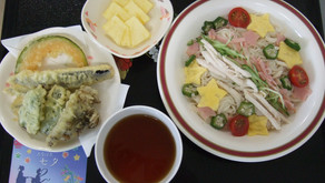 7月の行事食(七夕・食育の日・夏野菜献立)