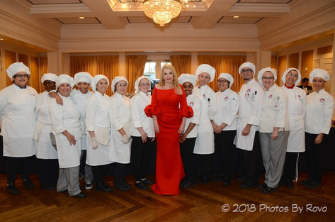 Marie Bosarge and the students from Culinary Institute LeNôtre