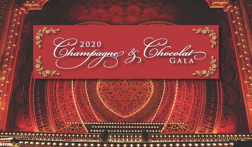 2020 Champagne  Chocolat Gala Invitation