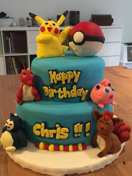 Chris' pikachu cake