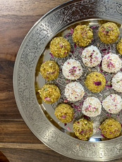 Basbousa truffles