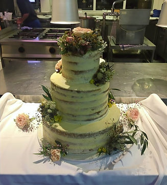 Blueberry almond wedding cake
