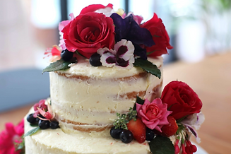 Berry fruit wedding cake