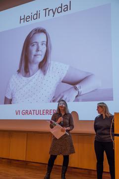 Heidi Trydal tildeles Kari Widerøes Minnefondpris 2018