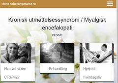Ny nettside om kronisk utmattelsessyndrom/myalgisk encefalopati