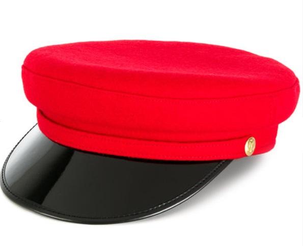 MANOKHI -vinyl visor officer's cap