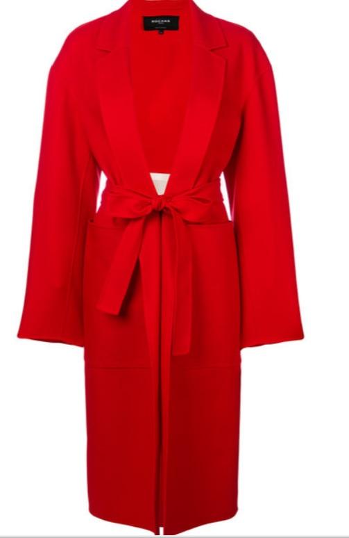 ROCHAS - tie waist structured coat
