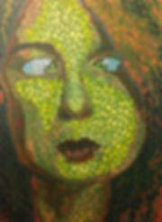 Self-Portrait,Acrylic on wood, 30 x 40 inches, 2013