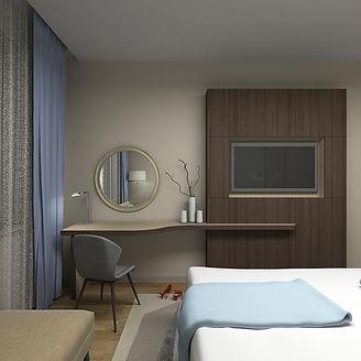 Строгая спальня дизайн