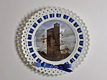 Art installation,Victoria Ribbon Plates, photographic transfers