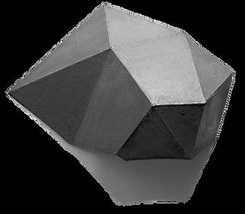 Graphite, geometric, sculpture